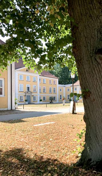 Blick auf Schloss Wotersen